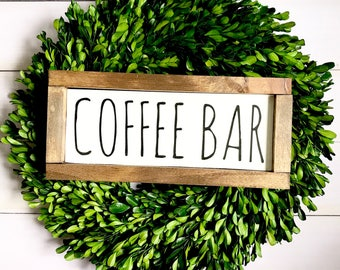 Handmade 'Coffee Bar' Wood Sign