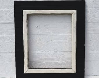 Picture Frame- - Wedding Picture Frame,  16x20 Frame Black and White Frame-Distressed Picture Frame- Shabby Chic Frame