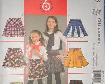 McCalls 5696 Girls' Skirts