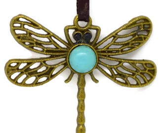 dragon fly pendant, bug pendant, blue dragonfly pendant, dragonfly pendant