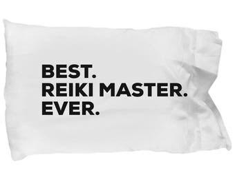 Reiki Master Pillow Case, Gifts For Reiki Master, Best Reiki Master Ever, Reiki Master Pillowcase, Christmas Present, Reiki Master Gift