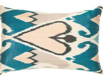 blue ikat pillowsgray ikat pillowheart design pillowgrey