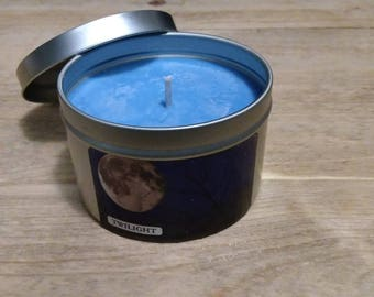 Twilight scented soy candle all natural and hand poured