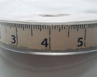 Tape measure printed ribbon 15mm sewing
