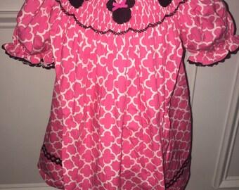 Pink Mouse Ear Smock Dress