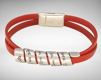 Friend Gift | Sister Gift | Friend Bracelet |  Friend Quotes | - Secret message hand stamped bracelet  - bracelet  by Twisting Thoughts