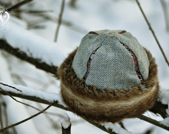 Early medieval woolen cap with brocade