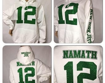 ON SALE Jets Glitter Sweatshirt  | New York Jets bling hoody sweatshirts | Jets hoody sweatshirts