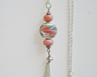 Dusty Rose Pendant Necklace