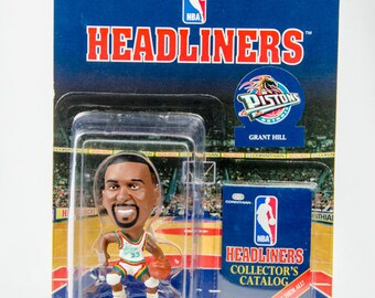 NBA Headliners Grant Hill Goatie Figure Detroit Pistons