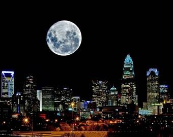 Digital Download Photography - Charlotte, NC Super Moon