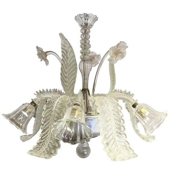 Barovier & Toso Murano Glass Chandelier / lampadario in vetro