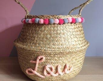 Thai basket, basket with tassels, tassels, trend, basket ball basket basket, basket personalized