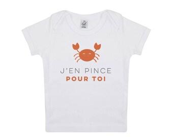 Tshirt bébé petit crabe en coton biologique
