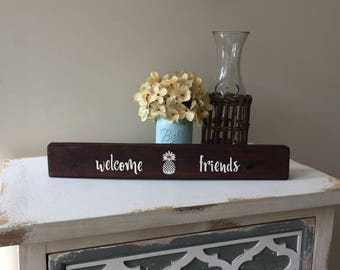 welcome sign, wood sign, wood plaque