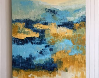 Acrylic Abstract Modern Painting Large Original Modern Contemporary Art Canvas by Linda Haywood