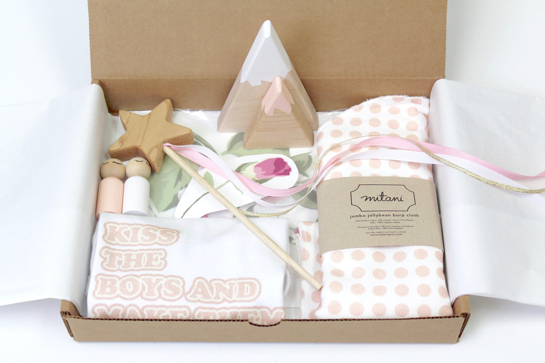 Blush Baby Gift Basket New Baby Gift Box Baby Girl Gift