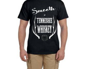 Smooth as Tennessee whiskey, Drinking shirt, concert shirt, Chris stapleton shirt, country concert, country tee, Men shirt, chris stapleton