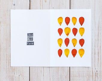 Handmade greeting card / Cosmos pressed flower