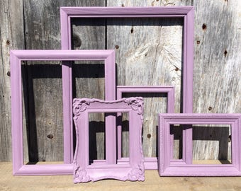 Lavender Frame Set, painted frames, home and garden decor, nursery, vintag inspired