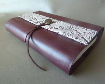 Height 18 cm book, book adaptable purple cowhide leather