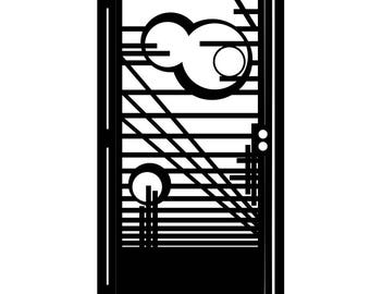 Artistic Metal Gate - Modern Design - Wright - Modern Metal Gate - Modernism - Steel Wall Art - Modern Driveway Gate - Modern Entry Gate Art