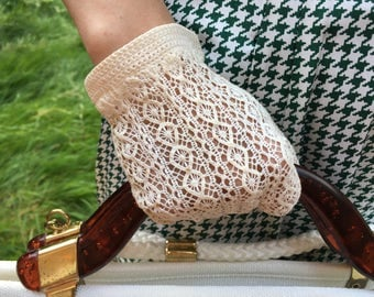 gloves crochet cotton - medium (from S to M)