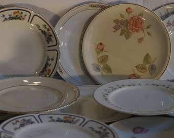 20  Mismatched China 6 inch Bread  /Dessert Plate Lot C