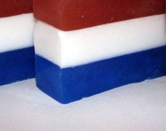 NEW!!!  Red, White & Blue Soap
