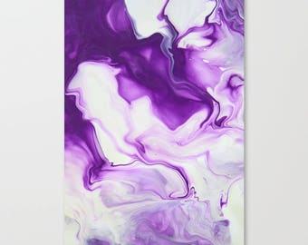 Original Abstract Wall Art Print, A2, A1, Home Decor, Interior, Purple Smoke