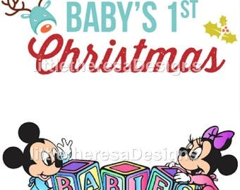 Baby 1st Christmas Iron On Transfer