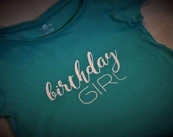 Birthday Girl Shirt (Teal)