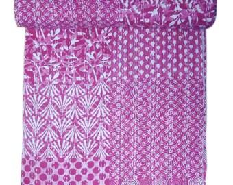 Indian Hamdemade Kantha Quilt Beautifully Designed