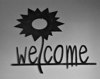Welcome/Flower sign