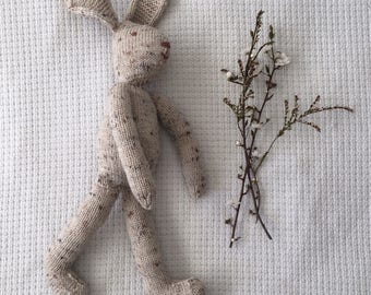 Knitted Toy Rabbit - Natural Colour