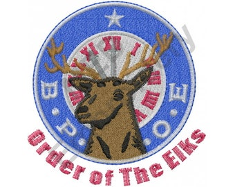 Elk - Machine Embroidery Design, B.P.O.E. Benevolent And Protective Order Of The Elks