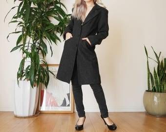 Knee length coat | Etsy