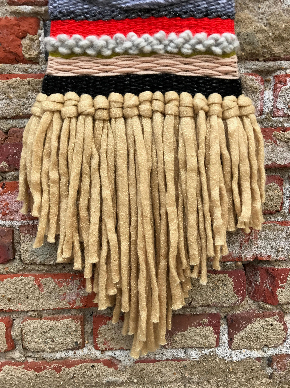 Handmade boho woven wall hanging / fiber wall art / weaving on ...