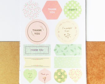 Thank You Stickers - Decoration, Label, Gift Wrapping, Packaging