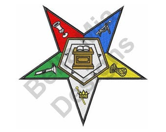 Order Of Eastern Star - Machine Embroidery Design