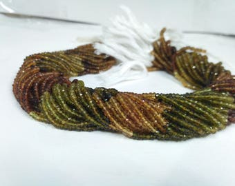 Natural Fine 3mm Petro Tourmaline Faceted Rondelle Beads  Petro Tourmaline faceted   Petro Tourmaline Rondelle   Fine Beads 