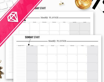Monthly Planner Printable, Monthly Planner, Monthly Planner Notepad, Monthly Planner 2017, Monthly Planner Sheets, Monthly Organizer,