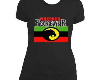 Black Panther Shirts! Wakanda Forever Women's Tee*