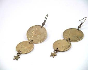 * Earrings - coins money *.