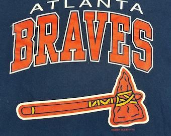Vintge '93 Atlanta Braves 90s Starter T Shirt Size Large MLB Baseball
