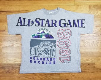 Vintage 90s 1998 Colorado Rockies All Star Game T shirt Size XL
