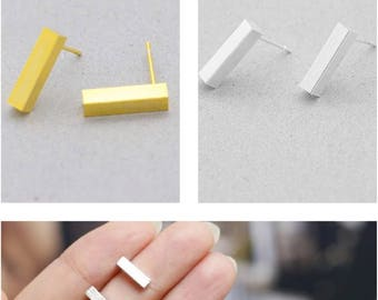 Stainless steel  bar stud earrings