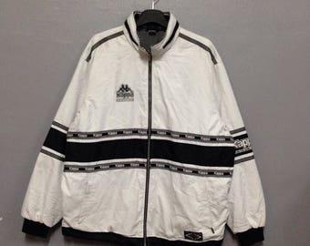 Rare!! Vintage KAPPA Jacket/Windbreaker Down Zipper 0 Size