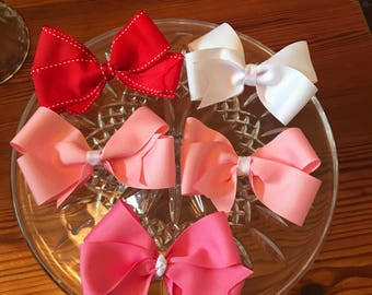 SET OF 3 4 inch Grosgrain Boutique Bow