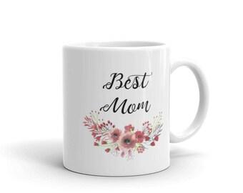 Mug, Best Mom Coffee Mug, White Ceramic Mug, Gift For Mom